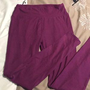 Lularoe purple leggings